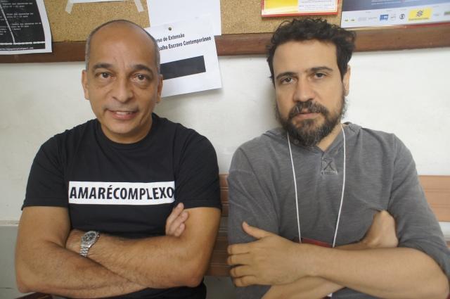 Urban agitators Jailson de Souza e Silva and Marcus Faustini