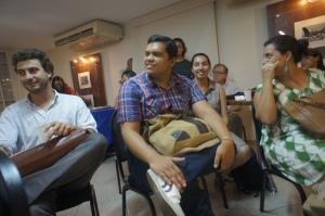 Nova geração de ativistas na reunião de lançamento da Casa Fluminense: à esquerda, Miguel Lago, presidente do Meu Rio