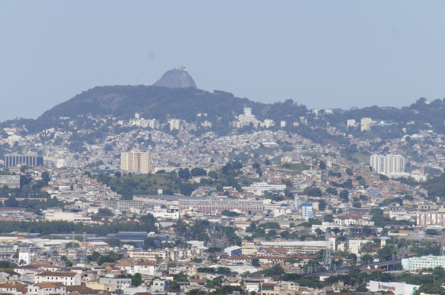 Unusual view of Sugarloaf, from Alemão Complex of favelas