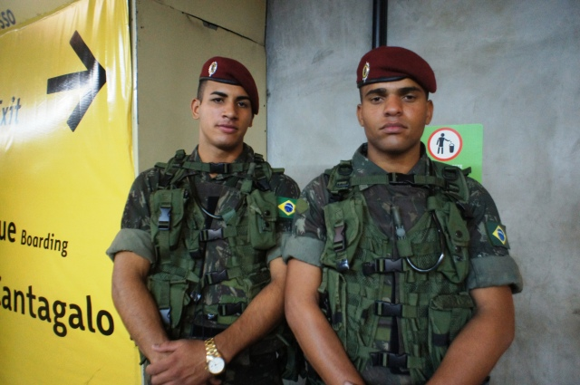 Army troops kept Rio safe for the Pope and the pilgrims