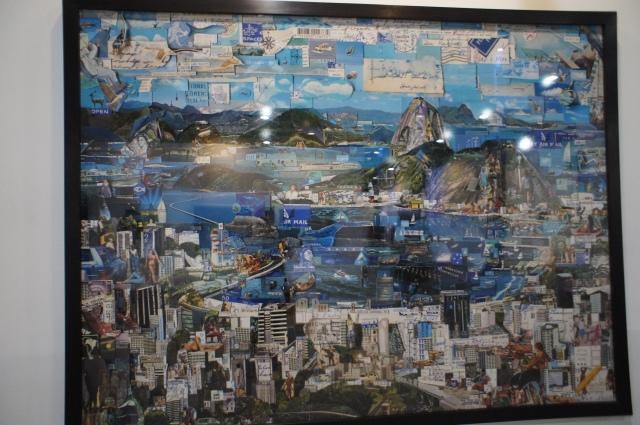 Rio de Janeiro postcard, by Vik Muniz, born in São Paulo