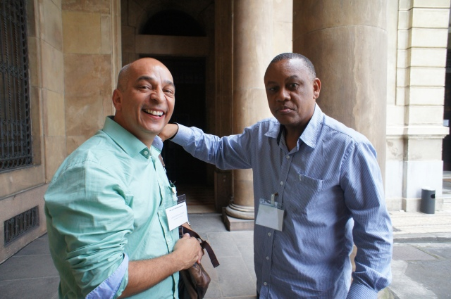 Jailson da Silva and Celso Athayde, favela pioneers, trade thoughts after their presentations