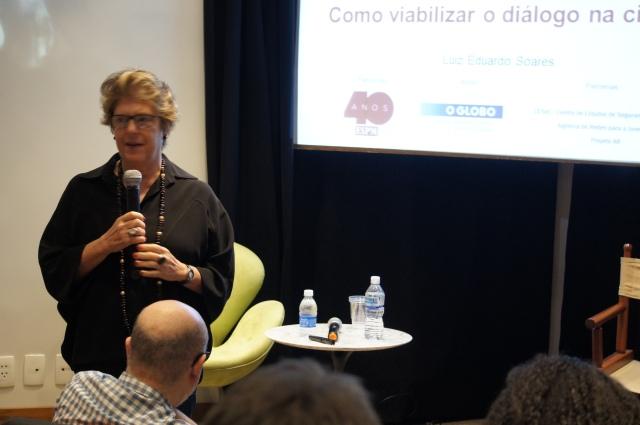 Social scientist Silvia Ramos, a Rio de Encontros coordinator