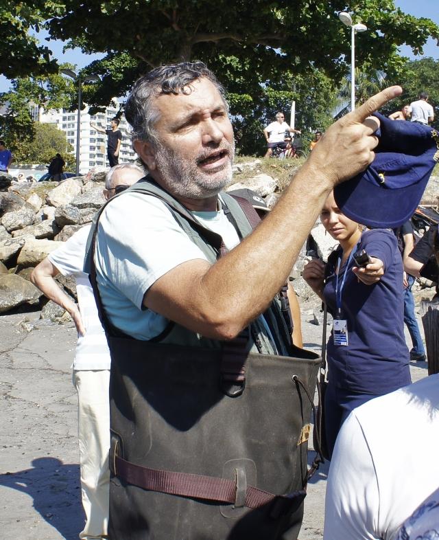 O biólogo Mário Moscatelli, defensor da baía e das lagoas do Rio