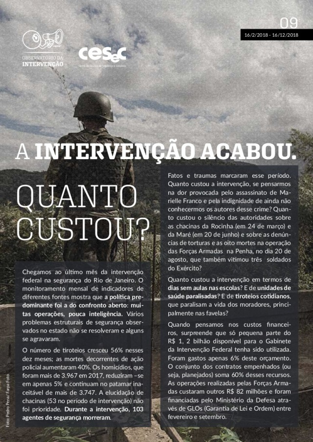 Preocupam mais ainda, no Rio, indícios de crescimento do poder miliciano.  Será que está de fato tomando as rédeas da metrópole, como indica este  artigo, ... 0f080214b5